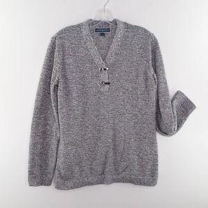 KAREN SCOTT Heathered 100% Cotton Sweater LARGE